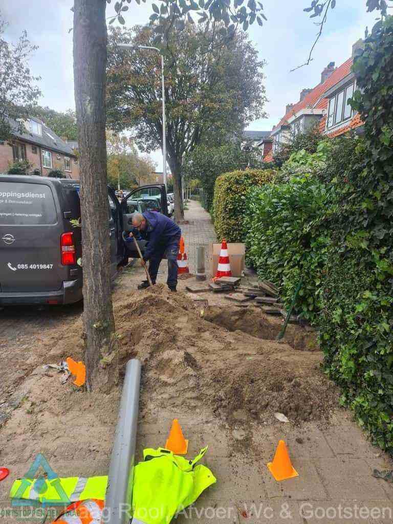 Graven riool Den Haag